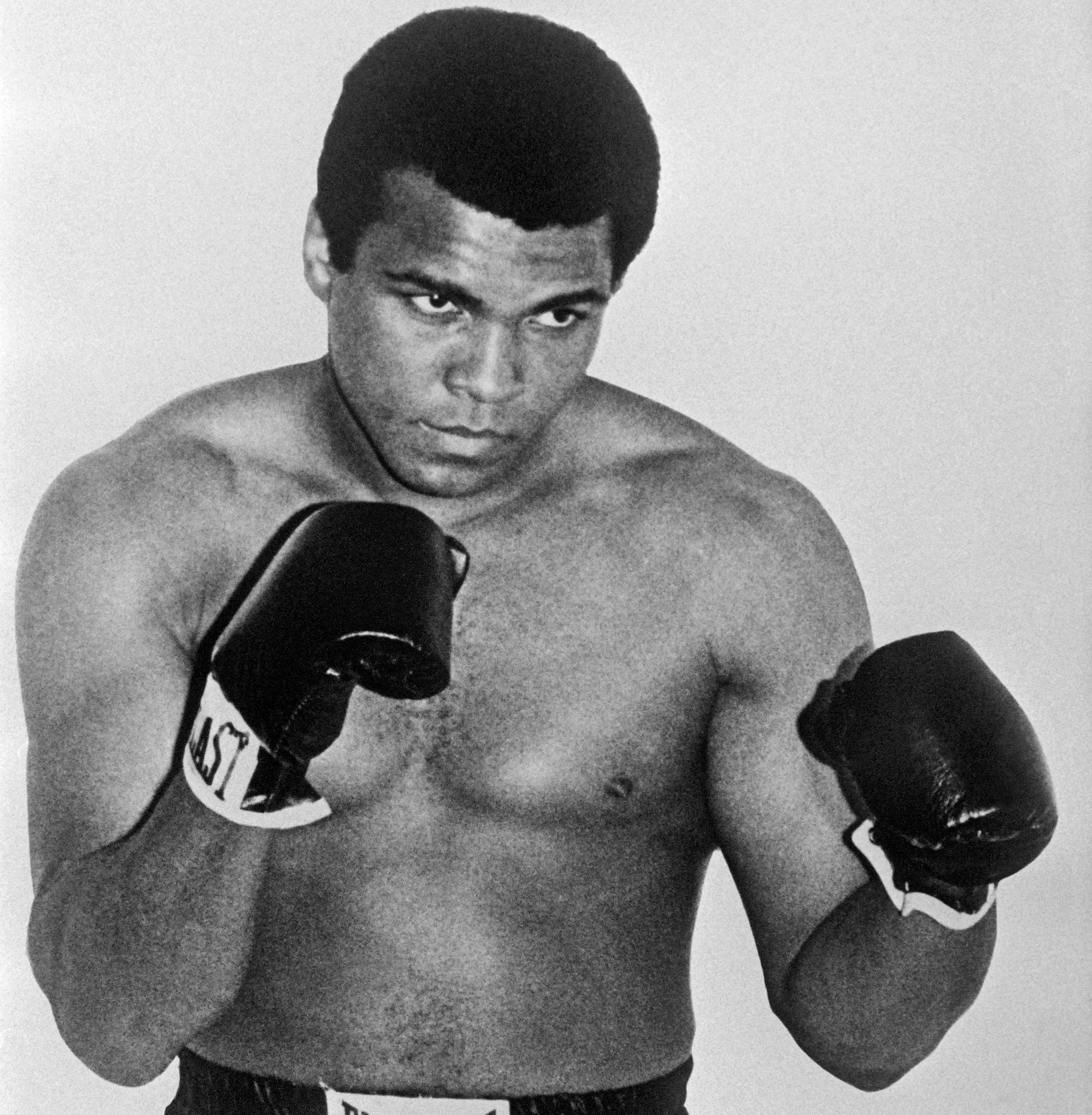 Mohammad Ali, bingwa wa zamani wa ndondi uzito wa juu na mwanaharakati kutoka Marekani.