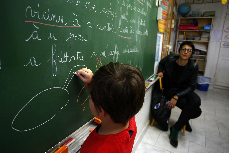 Урок корсиканского языка в школе Аяччо на Корсике
