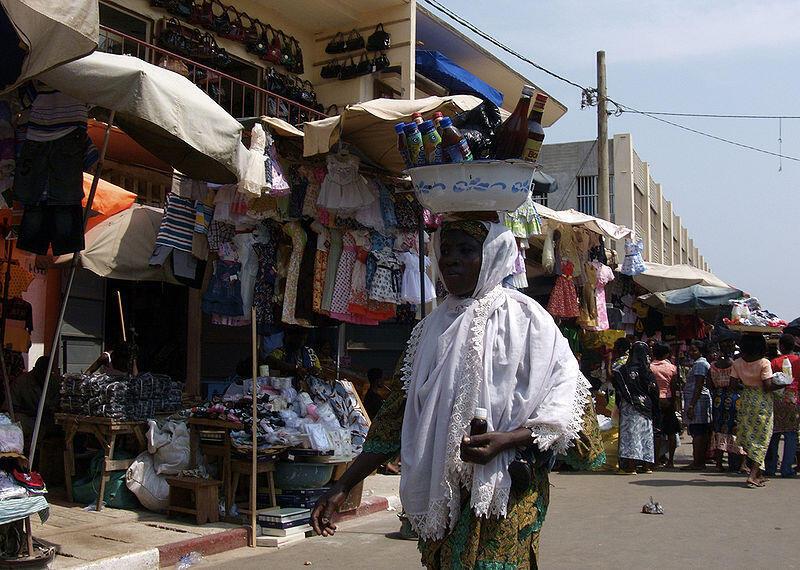 Grand marché de Lomé, Togo.
