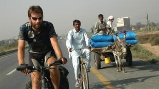 Scottish cyclist Mark Beaumont goes around the world
