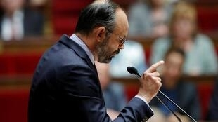 Thủ tướng Pháp Edouard Philippe đọc diễn văn trước Hạ Viện ngày 12/06/2019.