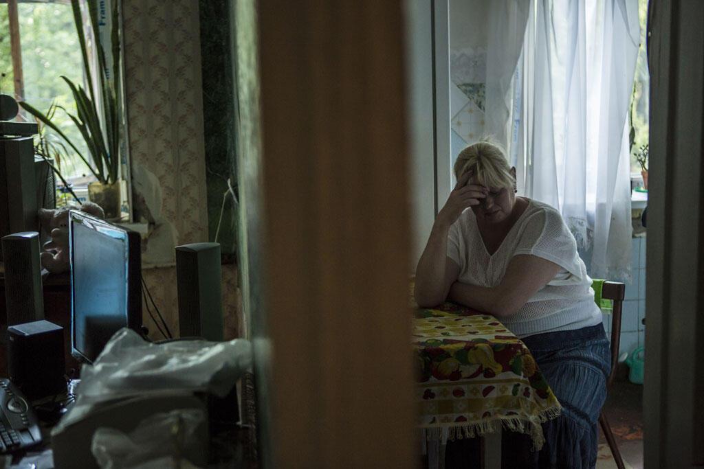 Maryna, dont le fils Yevhen, a été arrêté le 11 juillet 2014, à Kramatorsk, au nord de Donetsk.  Depuis elle est sans nouvelles.. .
