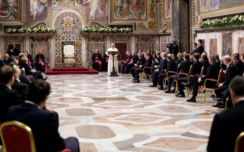 Mkutano wa viongozi wa Umoja wa Ulaya na Kiongozi wa Kanisa Katoliki duniani Papa Francis Machi 25 2017 mjini Rome, Italia