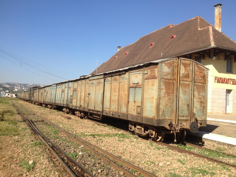 Train de marchandises  à la gare de Fianarantsoa