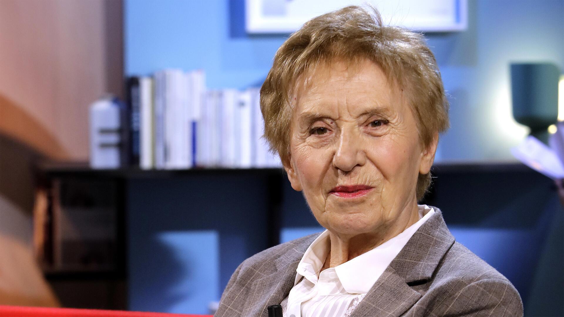 L'historienne Michelle Perrot, invitée dans l'émission télévisée «La Grande Librairie» sur France 5, à Paris, en octobre 2018.