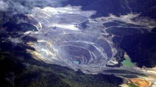 Une mine du géant américain Freeport-McMoRan à Sumbawa Island, en Indonésie.