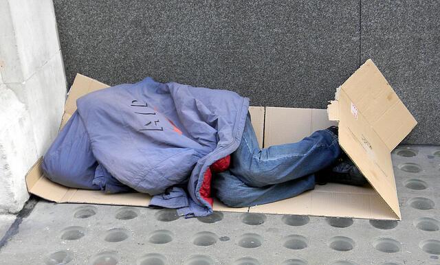 Sans-domicile fixe dans un quartier de Londres. (Photo d'illustration)