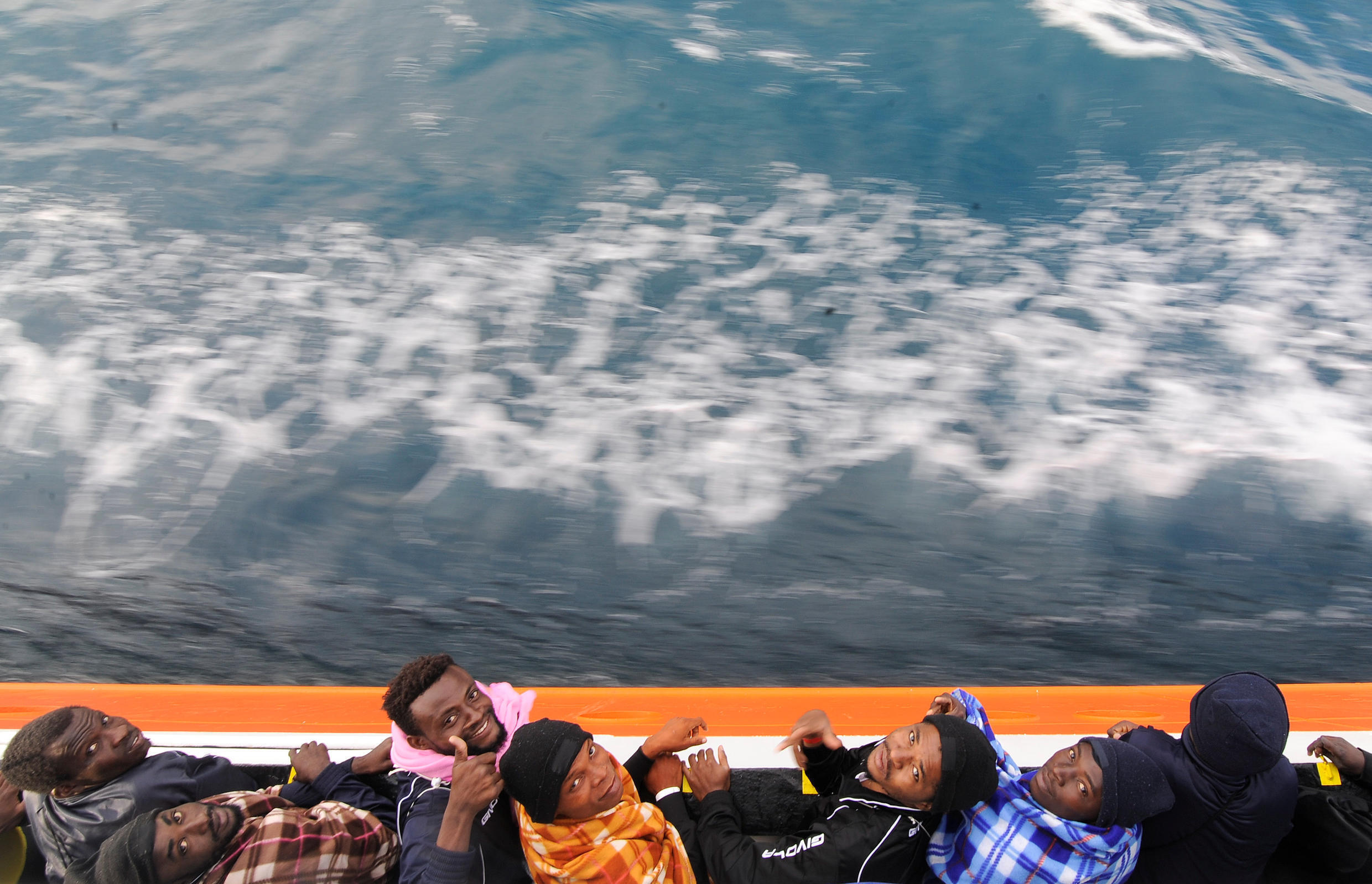 Refugees on board the Aquarius