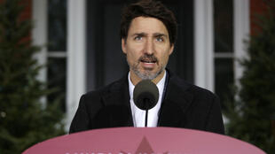 Prime Minister Justin Trudeau, seen here at a daily COVID-19 briefing, defended his government's decision during the pandemic to relax rules requiring labels for imported goods to be in both French and English