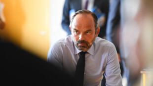 Édouard Philippe en visite dans un lycée pour défendre ses réformes, ce vendredi 30 août 2019 au Muy, dans le Var.