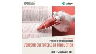 Affiche du colloque international «L'erreur culturelle en traduction».
