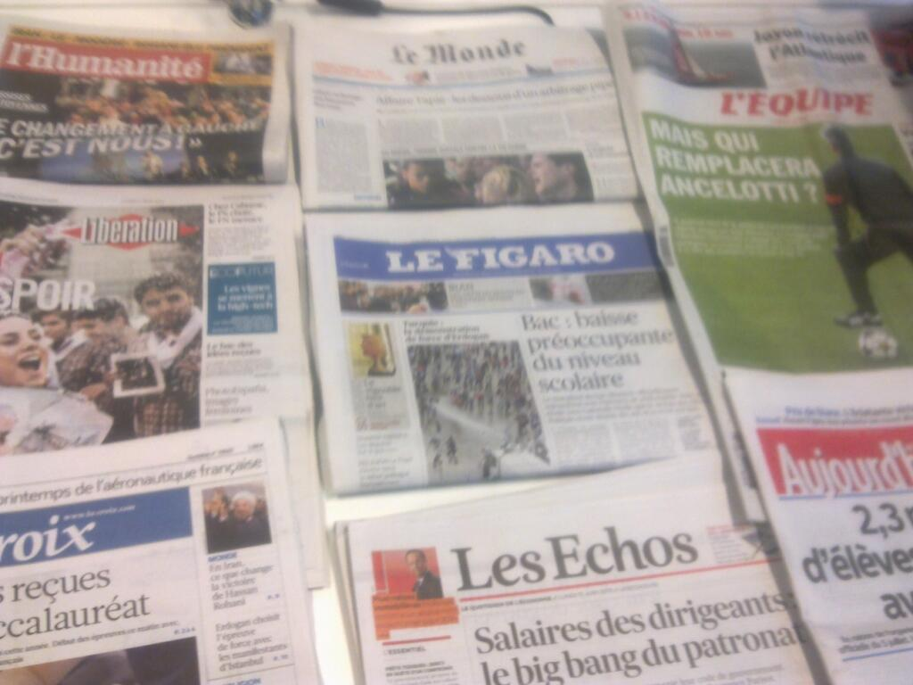 Diários franceses  17/06/2013