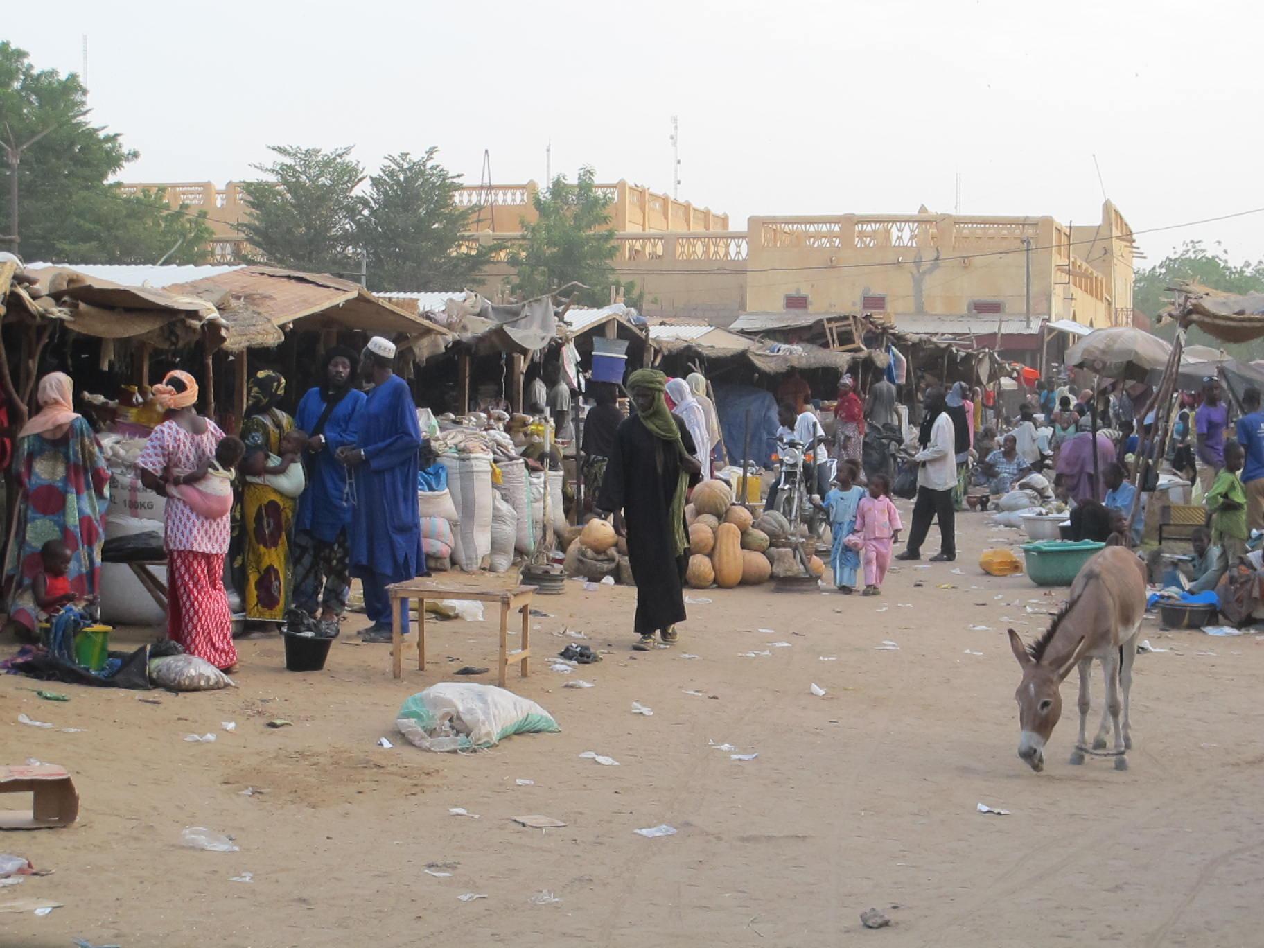 Le marché de Gao.