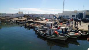 Le port de pêche de l'île Garbi, dans l'archipel des Kerkennah en Tunisie.