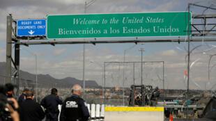 Frontera entre Estados Unidos y México vista desde Ciudad Juárez, el 22 de febrero de 2019.