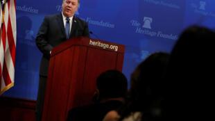 Mike Pompeo fez seu primeiro grande discurso durante uma conferência no Heritage Foundation.