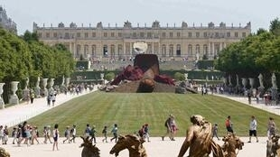 Anish Kapoor's Dirty Corner in the gardens of the Château de Versailles