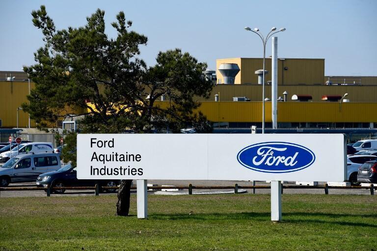 L'entrée du site de Blanquefort de la Ford Aquitaine Industries (FAI), près de Bordeaux, le 27 février 2018.
