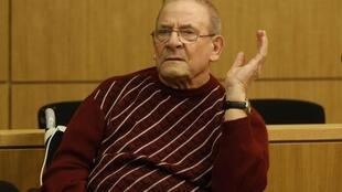 Accused Heinrich Boere is seen in a courtroom in Aachen March 23, 2010.
