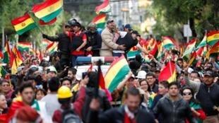 玻利維亞總統莫拉萊斯在民眾持續抗議性被迫辭職。