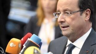 El presidente Hollande en Bruselas, este 19 de diciembre de 2013.