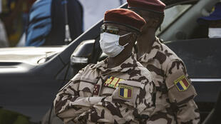 Le chef du CMT Mahamat Idriss Déby Itno le 9 avril 2021 à Ndjamena.