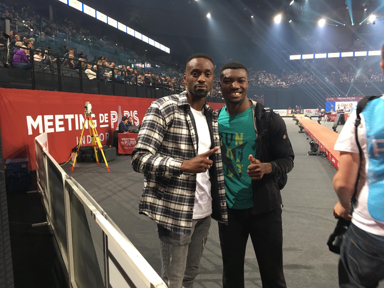 Teddy Tamgho (g) et Hugues Fabrice Zango.