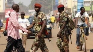 中非首都班吉街头的军人