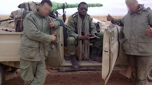 Lieutenant Kelly Ondo Obiang on a training mission in Morocco.
