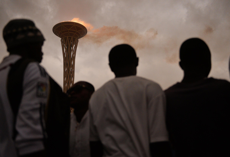 La flamme des Jeux africains 2015, à Brazzaville.