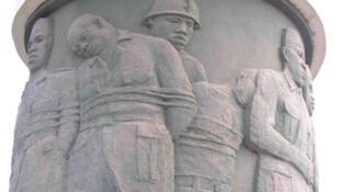 Bamako (Mali). Détail du monument en hommage aux martyrs du camp de Thiaroye.