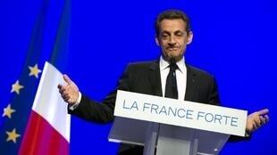 El presidente francés y candidato saliente Nicolas Sarkozy en Longjumeau, el 24 de abril de 2012.
