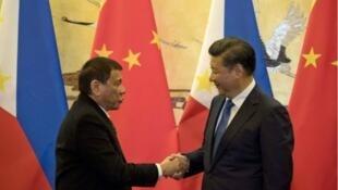 菲律宾总统杜特尔特访华与中国国家主席习近平会面 (2016年10月20日)