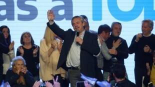 Le candidat à la présidentielle argentine Alberto Fernandez, après sa victoire lors des primaires. Buenos Aires, le 11 août 2019.