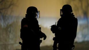 Forces spéciales de la police à Strasbourg dans le quartier de la Meinau, après l'opération qui a conduit à la neutralisation de Chérif Chekatt.