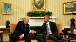 Barack Obama ya gana da Donald Trump.