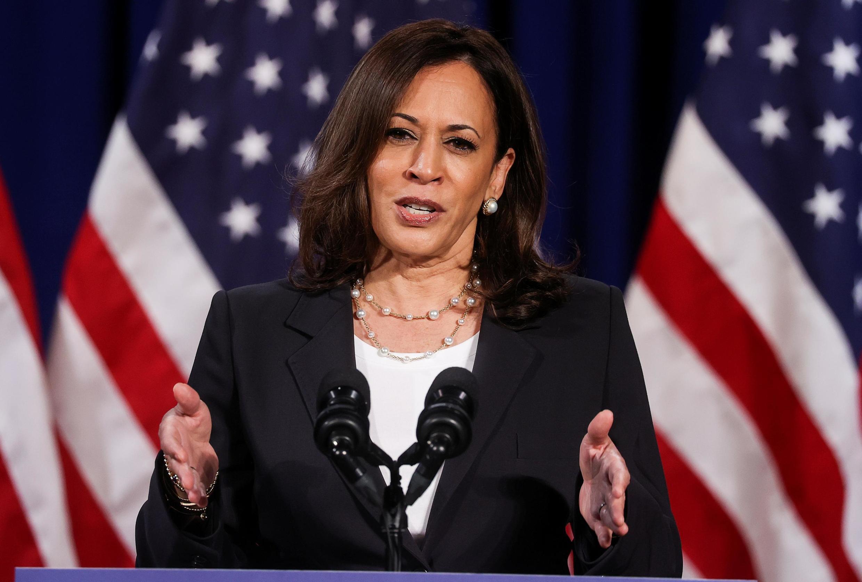 Kamala Harris, colistière de Joe Biden pour l'élection présidentielle américaine de 2020, à Washington le 27 août 2020.