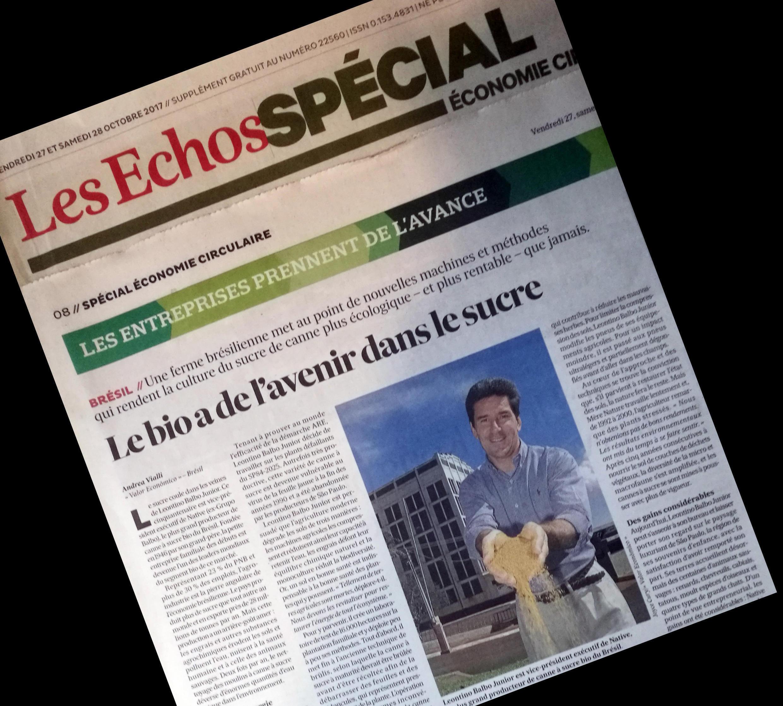 O jornal Les Echos publica um caderno especial sobre projetos de economia circular.