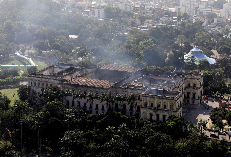 Национальный музей Бразилии после пожара