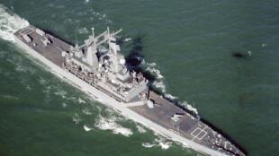 图为美国一款巡洋舰
