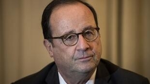 Ex-French President François Hollande,15 November 2018, during a trip to Greece.