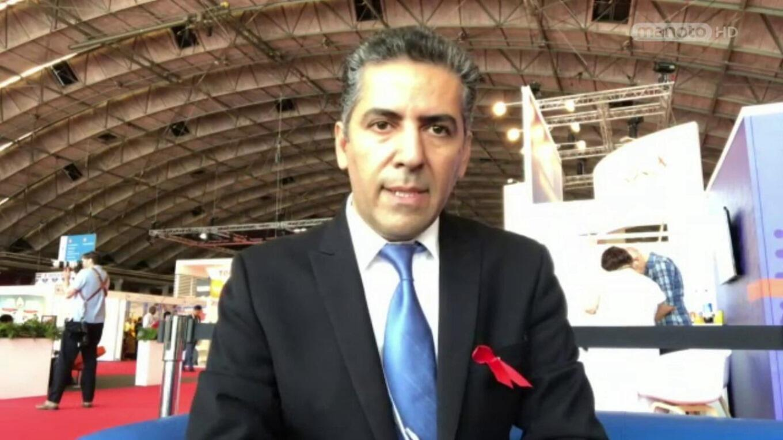 دکتر کامیار علایی، متخصص بین المللی بیماری ایدز، در کنفرانس جهانی ایدز در آمستردام، ٢٣ ژوئیه/١ مرداد - ٢٧ ژوئیه/۵ مرداد سال ٢٠١۸ میلادی/١٣٩٧ خورشیدی