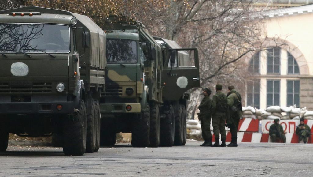 Magari ya kijeshi karibu na randabautiya mji wa Donetsk, mashariki mwa Ukraine.