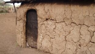 A mud hut