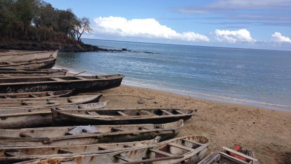 Plage de Morro Peixe, au nord de l'île de São Tomé.