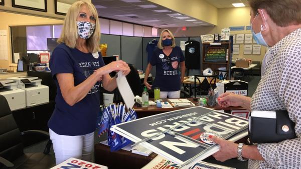 Barbara Dieker, au quartier général du club démocrate à The Villages en Floride.