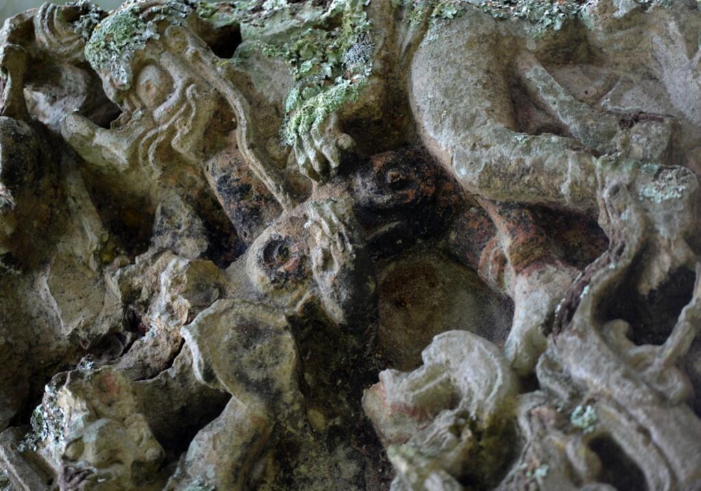 世界古文物瑪雅石碑