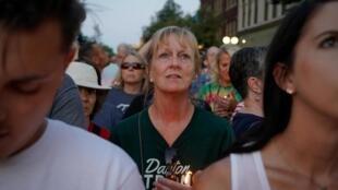 Marche en l'honneur des victimes de la tuerie de Dayton, dans l'Ohio, le 4 août 2019.