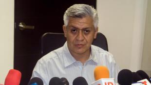 Cristobal Castañedad Carrillo, subsecretario de la Secretaría de Seguridad Pública, en conferencia de prensa el 1 de Julio en Culiacán.
