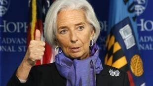 A diretora-gerente do FMI, Christiane Lagarde.